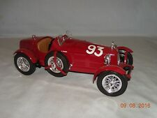 BURAGO 1/18 SCALE 1934 DIECAST RED ALFA ROMEO 2300 MONZA CAR
