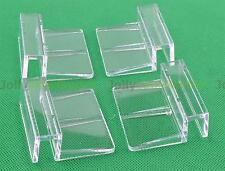 4x Plastic Support Clip Holder For Aquarium Fish Tank Glass Cover Clear 10mm