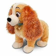"Disney Store 14"" LADY and the Tramp Plush Cocker Spaniel Stuffed Animal Toy Dog"