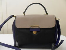 MARC JACOBS SHELTERED ISLAND TOP HANDLE SATCHEL CEMENT MULTI BLACK BLUE BAG