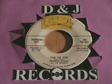 FRANKIE MANN~TOE TO TOE~VG+~JUST GO WAY~RARE PROMO~ KILLER TWO~ ROCKABILLY 45