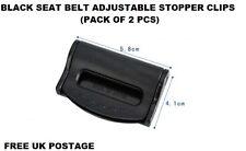 2Pcs AUDI BLACK Car Seat Belt Strap Adjuster Stopper Buckle comfort clips