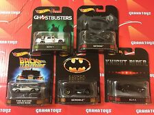 2017 Hot Wheels Retro Set of 5 Cars Mix A Ecto-1 K.I.T.T. Batman
