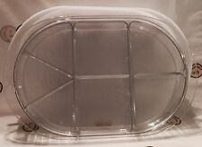 NEW Tupperware Ice Clear Acrylic Serving tray complete w/ Hors D'oeuvre inserts