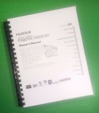 COLOR PRINTED Fujifilm Camera FinePix F600EXR Instruction Manual 153 Pgs