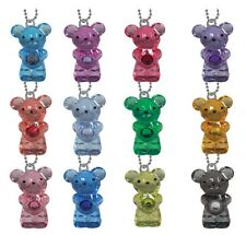 Valentine's Day Gifts for Kids, 12 Birthstone Bear Key chains, 1 for each month