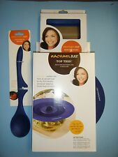 RACHAEL RAY LAZY SOLID SPOON / BENCH SCRAPE & SILICONE LID SET *NEW*