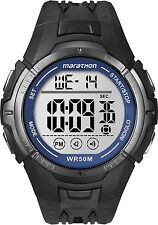Mens Timex Marathon Indiglo Gray Rubber Sports Alarm Digital Watch TW5M06700