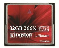 Kingston CompactFlash Ultimate 32GB Memory Card 266X with Recovery Software