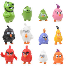 12 pcs/set Angry Birds Figures 3-5 cm Toys Doll Cartoon Movie Figures From USA !