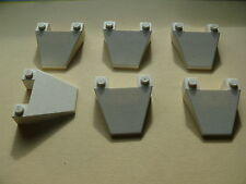 Lego 6 capots blancs set 9335 7696 6387 / 6 white Wedge 4 x 4 Taper