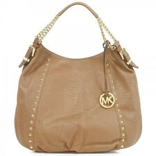 Michael Kors Tan Leather Snake Print Chained Stud Hand/Shoulder Bag -Ideal Gift