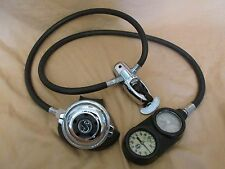 SCUBAPRO 3000PSI 1ST 2ND STAGE SCUBA DIVING REGULATOR SET +DEPTH/PRESSURE GAUGE