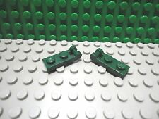 Lego 2 Dark Green 1x2 hinge plate with closed handle on the end NEW