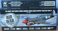 Vallejo Model Air VAL71184 WW2 USAAF CBI and Pacific Theatre 8 colour paint set