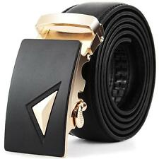 Men Leather Automatic Buckle Belts Fashion Waist Strap Belt Waistband