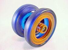 Blue Orange Grind Machine Yo Yo From The YoYoFactory + 3 NEON STRINGS YE/OR/GRN