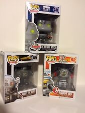 """Funko ROBOT 3PC 3.75"""" POP SET LOST IN SPACE B9 - IRON GIANT - ROBBY ROBOT"""