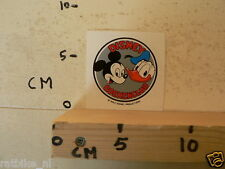 STICKER,DECAL MICKEY MOUSE DONALD DUCK DISNEY BOEKENCLUB A