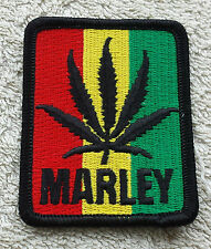 BOB MARLEY LEAF PATCH Cloth Badge/Emblem/Insignia Biker Jacket Bag Rastafarian