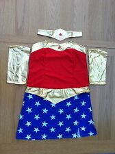 Ladies Donna Supereroe Wonder Woman Costume Halloween dress size fit 4 6 8 10