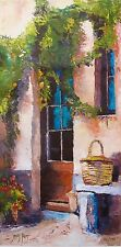 "JAMES PRATT ""TUSCAN DOORWAY"" Hand Signed Limited Edition Giclee on Canvas"