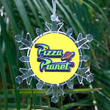 Toy Story Pizza Planet Promo Snowflake Blinking Holiday Christmas Tree Ornament