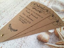 SAMPLE Rustic Brown Vintage Shabby Chic Wedding Order of Service Fans!