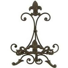 Gorgeous Brown Metal Easel with Fleur-De-Lis. Display  Art,  Photos.