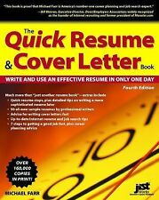 Quick Resume & Cover Letter Book: Write and Use an Effective Resume in-ExLibrary