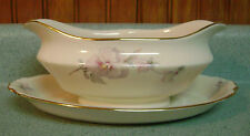 Atlas China Pansy Gravy Boat with Attached Underplate