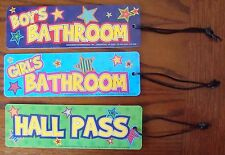 Set Of 3 Star Teacher Classroom School Boys Girls Hall Passes Teaching Supplies