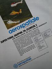 5/1982 PUB AEROSPATIALE HELICOPTERE SUPER PUMA ECUREUIL 2 DAUPHIN 2N GERMAN AD