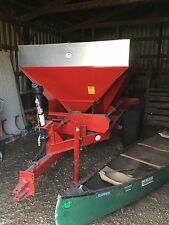 6 Ton Capacity Stainless Steel Lime / Fertilizer Spreader Applicator Broadcaster