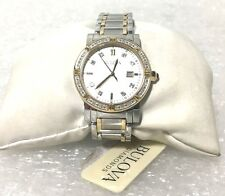Bulova Womens' 98R226 Diamond Two-Tone Stainless Steel Chronograph Watch (44255)