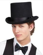 Black felt top ringmaster vampire hat men's VICTORIAN fancy dress costume party