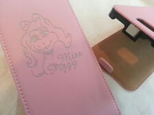 Samsung Galaxy S3 i9300 MISS PIGGY LEATHER pink flip phone case cover skin pig