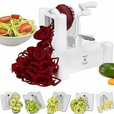 Bestselling Kitchen Tools - Vegetable Spiralizer with 5-Blade Attachment - White