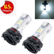 2x White 5202 H16 High Power LED Bulbs For Fog or Daytime Running Lights DRL HS