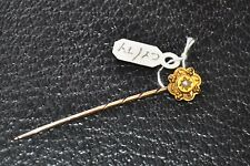 Victorian 15ct Gold Stick Pin / Lapel Tie Pin with Seed Pearl