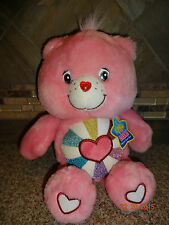 """Plush 2006 Hopeful Heart 13"""" Care Bear Glow in the Dark With Hang Tag"""