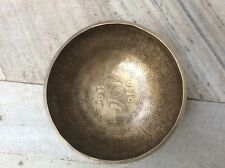 Double Om Tibetan Singing Bowl om mani pad me hum Meditation Therapy  Hand Made