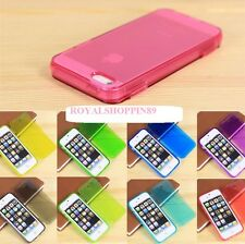 FLIP COVER  COLORATE IN GOMMA GEL PER APPLE IPHONE4/4S SUPER OFFERTA