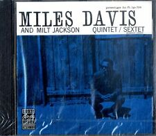 MILES DAVIS & MILT JACKSON Quintet/Sextet CD NEW Sealed