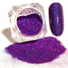 1 box Purple Starry Holographic Laser Powder Holo Nail Art Glitter Powder L7