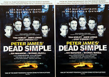 2 X PETER JAMES DEAD SIMPLE THEATRE FLYERS  TINA HOBLEY JAMIE LOMAS GRAY O'BRIEN