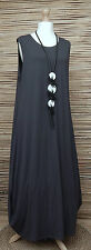 LAGENLOOK AMAZING BEAUTIFUL STRETCHY BALLOON MAXI DRESS*DARK GREY*Size 42-44-46""