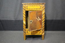 "Antique 1880's French ""Boite a Cigare"" Cigar Storage Case in Exotic Veneers"