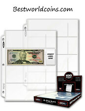 Premium 4 Pocket Currency Album Pages (lot of 100)