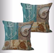 US SELLER-2pcs nautical turtle anchor cushion cover cheap throw pillows for bed